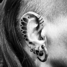 ear tattoo dotwork best tattoo ideas gallery