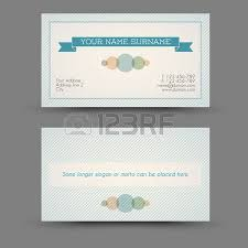 Business Cards Front And Back Old Style Retro Vintage Business Card Front And Back Royalty Free