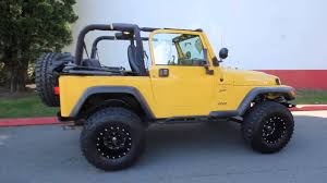jeep yellow 2001 jeep wrangler sport yellow 1p308899 seattle bellevue