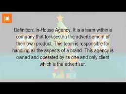 in house meaning what is meaning by in house agency youtube