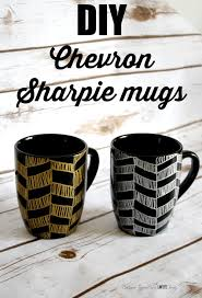 how to make sharpie mugs with a chevron pattern
