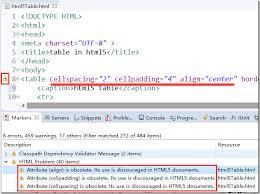 Table Cell Spacing 过期的html4 Table 属性cellspacing Cellpadding 等在html5 中的等价
