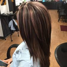 long bob hairstyles with low lights multi dimensional color beige and light violet highlights with