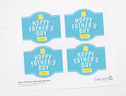 printable hoppy father u0027s day beer label