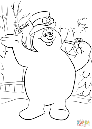frosty snowman coloring free printable coloring pages