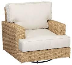 leucadia swivel rocking club chair with cushions tropical
