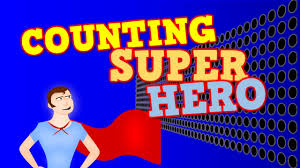 counting super hero counting by 1s to 100 for kids youtube