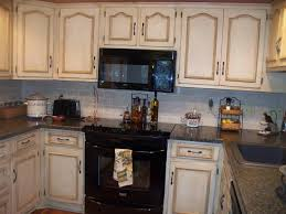 Kitchen Off White Cabinets Painting Over Glazed Kitchen Cabinets Kitchen Decorations