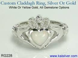 claddagh rings white gold claddagh ring custom claddagh white gold ring with