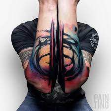 colorful abstract arm tattoos best design ideas