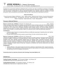 Medical Laboratory Technologist Resume Sample by Free Surgical Technologist Resume Example