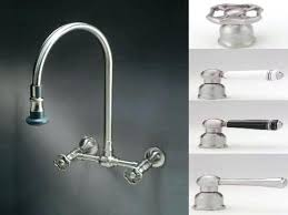 wall mounted faucet kitchen lever handles shown compartment sink wall mount faucet kitchen pre