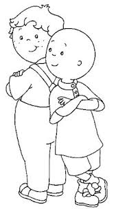 caillou coloring pages choose