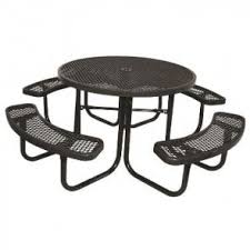 heavy duty round picnic table picnic tables commercial picnic tables treetop products