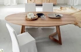 tavolo ovale legno tavolo ovale in massello torero arredo design