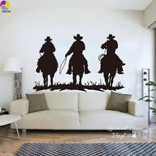 online shop large horse riding wall sticker living room 3 cowboy online shop large horse riding wall sticker living room 3 cowboy horses mustang farm animal wild west wall decal bedroom kids room vinyl diy aliexpress