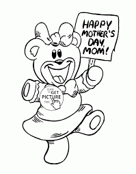 happy mothers day mom coloring page for kids coloring pages