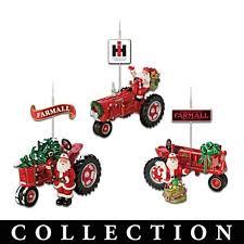 farmall tractor and santa ornament collection trey s