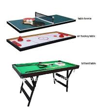 3 in 1 mini multi game table hockey table table tennis soccer