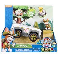cartoon car back paw patrol tracker u0027s pull back explorer vehicle amazon co uk