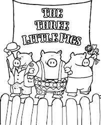 celebrity 3 little pigs coloring page wecoloringpage