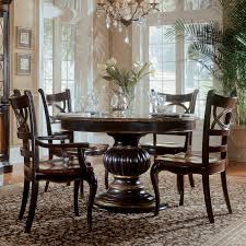 Hooker Furniture Preston Ridge  Piece Pedestal Dining Set With - Hooker dining room sets