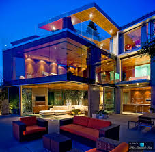 luxury modern house design with glass dominated the cinstruction