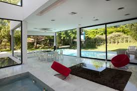 water feature open plan living space modern house in pilar water feature open plan living space modern house in pilar buenos aires