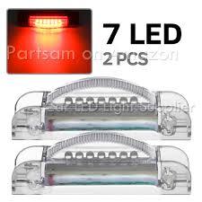 red led marker lights partsam pair 4 x 3 4 slim line led side marker light clear red