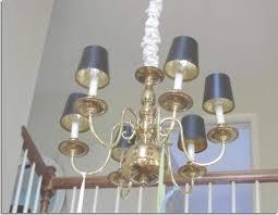 Brass Chandelier Makeover Brass Chandelier Diy Light Shop Light Ideas