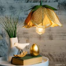 Flower Pendant Light Make A Gorgeous Diy Flower Pendant Light With Crepe Paper