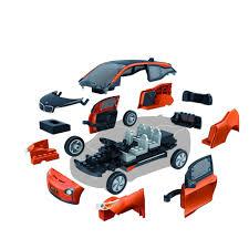bmw i3 surenkamas konstruktorius bmw i3 modelis oranžinis funtastik