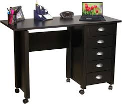 Mobile Computer Desks For Home Furniture Fascinating Mobile Wood Computer Desk In Black