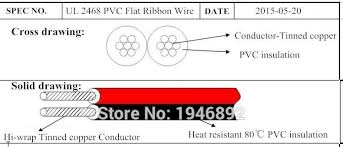50 meters lot tinned copper 22awg 2 pin red black cable pvc