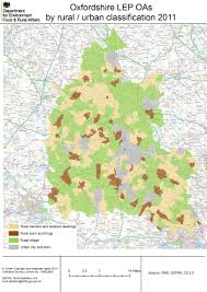 Oxford England Map by Local Enterprise Partnership Detailed Rural Urban Maps Census