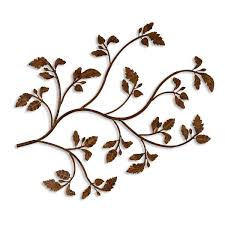 Black Forest Home Decor Rusty Branch Metal Wall Art