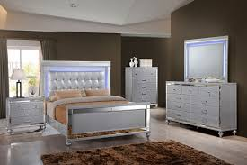 Lighted Nightstand B9698 Valentino Silver Lighted Bedroom U2013 Awfco Catalog Site