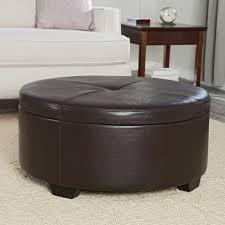 gray leather ottoman coffee table elegance round leather ottoman coffee table cole papers design
