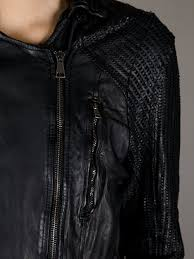 perforated leather motorcycle jacket giorgio brato perforated leather jacket in black lyst