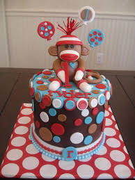 sock monkey baby shower cakes party xyz