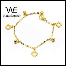 gold chain charm bracelet images 2016 fancy stainless steel 18k gold hand chain charm bracelet jpg