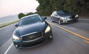 2011 infiniti m56 vs 2010 mercedes benz e550 u2013 full road test car