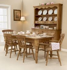 magnificent rustic pine dining room table chairs for broyhill set