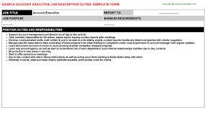 account executive job descriptions