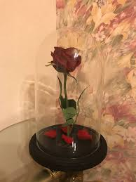 big beauty and the beast rose artificial flower enchanted