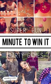 minute to win it party games are the best