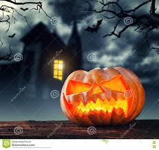 halloween scary background scary halloween pumpkin with horror background stock photo image