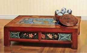 Painted Coffee Table Painted Mongolian Coffee Table Asian Chicago By China