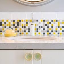 grey yellow white kitchen tiles google search house