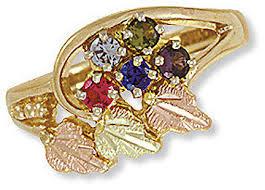 black gold mothers ring landstroms black gold mothers ring with birthstones d2251